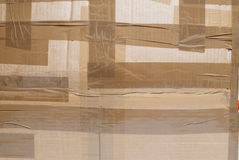 Cardboard box closeup Royalty Free Stock Image