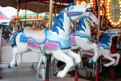 Closeup Of Carousel Horses At County Fair Royalty Free Stock Photography