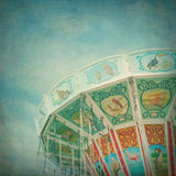 Closeup of a carousel with textured editing Stock Image