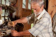 Closeup carpenter Stock Photo