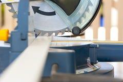 Carpenter machine Circular saw and steel blades Stock Image