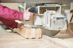 Closeup Carpentry Wood Cross Cutting Royalty Free Stock Image