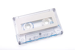 Closeup Cassette Tape on White Background