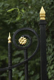 Closeup of a cast iron fence royalty free stock images