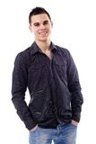 Closeup of casual young man Royalty Free Stock Photo