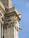 Closeup of Cathedrale Notre Dame in Paris Stock Photo