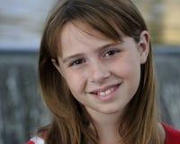 Closeup of caucasian brunette girl Stock Images