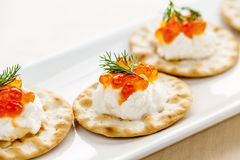 Caviar appetizers Stock Photos