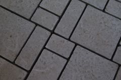 Closeup of cement paving texture on backyard royalty free stock photo