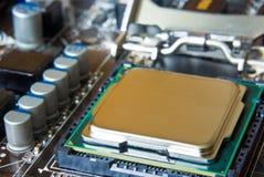 Closeup central processor unit Stock Photos