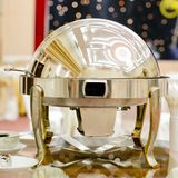 Closeup of chafing dishes at a party Royalty Free Stock Photo