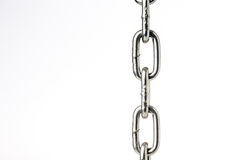 Closeup  chain  on white background Royalty Free Stock Image