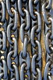 Closeup of chains Stock Images