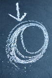 Chalk circles and arrow Royalty Free Stock Image