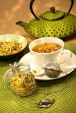 Closeup of chamomile tea Royalty Free Stock Image