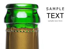 Closeup of champagne bottle Royalty Free Stock Image
