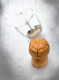 Closeup champagne cork Royalty Free Stock Photos