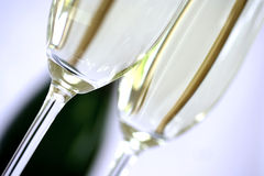 Closeup champagne flute royalty free stock photography
