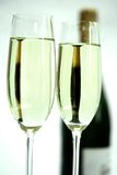 Closeup champagne flute Stock Image