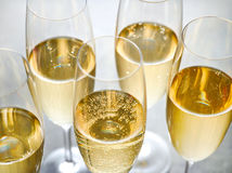 Closeup of champagne glasses Royalty Free Stock Image