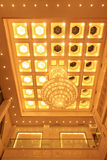 Chandelier on the ceiling in a hotel Royalty Free Stock Photos