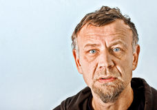 Closeup character portrait of a man Royalty Free Stock Images
