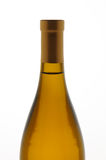 Closeup Chardonnay Wine Bottle Stock Image