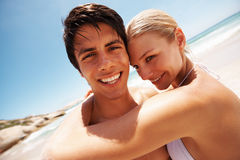 Closeup of a charming gorgeous couple romancing Royalty Free Stock Images