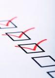 Closeup of check boxes Royalty Free Stock Image