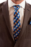 Closeup of checkered or plaid tie Royalty Free Stock Image