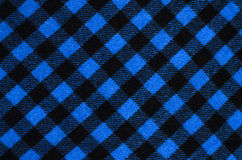 Closeup on checkered tablecloth wool fabric. Royalty Free Stock Images