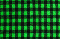 Closeup on checkered tablecloth wool fabric. Stock Images