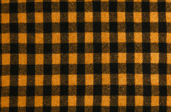 Closeup on checkered tablecloth wool fabric. Royalty Free Stock Photo