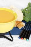 Closeup of cheese fondue Royalty Free Stock Photography