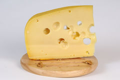 Closeup with cheese texture Royalty Free Stock Photos