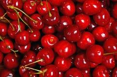 Closeup cherries on background Stock Photos