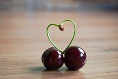 Cherry Heart Royalty Free Stock Photography