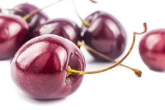 Closeup on Cherries Royalty Free Stock Photography