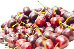 Closeup of cherries with visible droplets Stock Photos