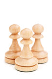 Closeup of chess paws Stock Photo