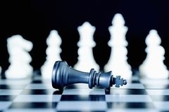 Free Closeup Chess Pieces On Chessboard Stock Photos - 126427233