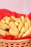 Closeup chicken fingers and french fries Stock Photo