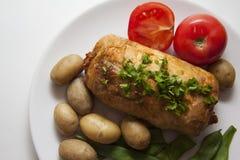 Closeup of chicken roll Stock Photo