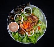 Closeup of  chicken salad Stock Photos