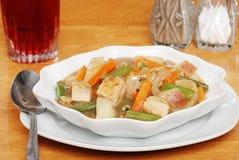 Closeup chicken stew Stock Photo