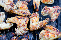 Closeup on chicken wings Stock Photo
