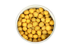 Closeup chickpeas on a white Stock Photography