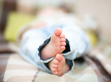 Closeup of a child feet Stock Photo