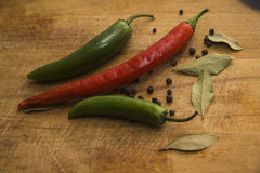 Closeup of Chili peppers Royalty Free Stock Photography