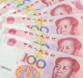Closeup of china one hundred yuan Stock Photos